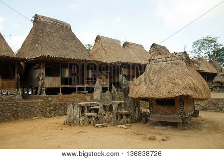 traditional village Bena on Flores Island Indonesia