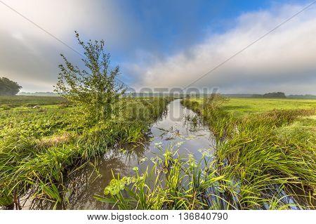 River Landscape Fast Travelling Clouds