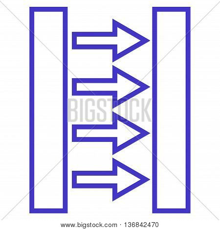 Pressure Horizontal vector icon. Style is thin line icon symbol, violet color, white background.