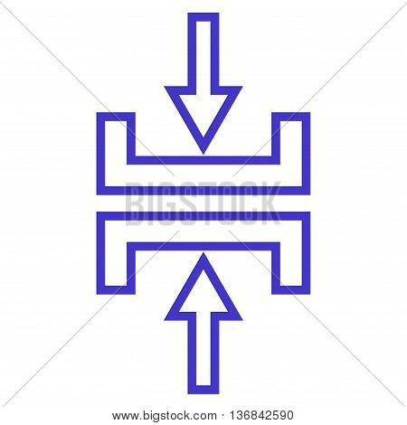 Pressure Vertical vector icon. Style is outline icon symbol, violet color, white background.