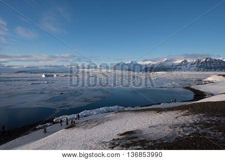 Glacier lake Jokulsarlon in Vatnajokull national park, Iceland