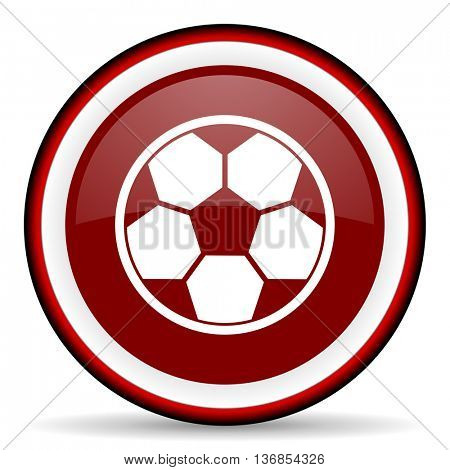 soccer round glossy icon, modern design web element