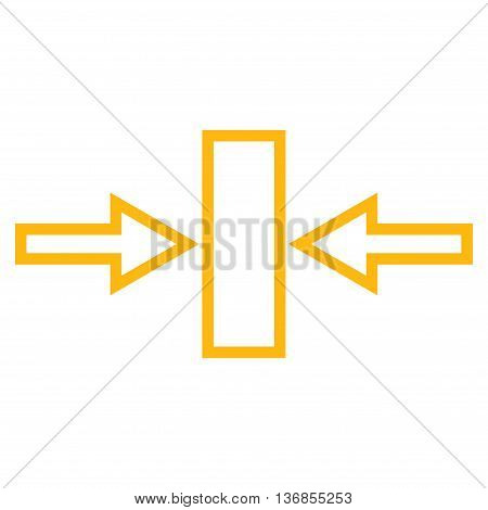 Pressure Horizontal vector icon. Style is outline icon symbol, yellow color, white background.