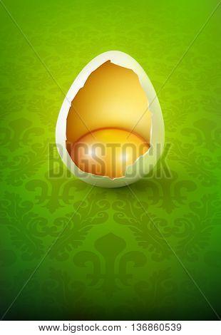broken vector egg illustration