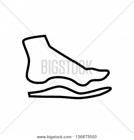 Orthopedic Insoles Isolated On White Background