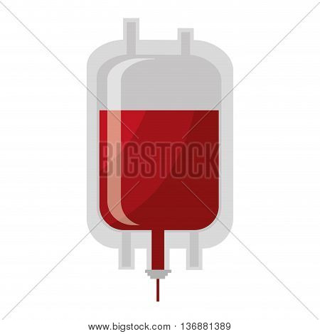 Medical blood bag colorful isolated icon, vector illustration.