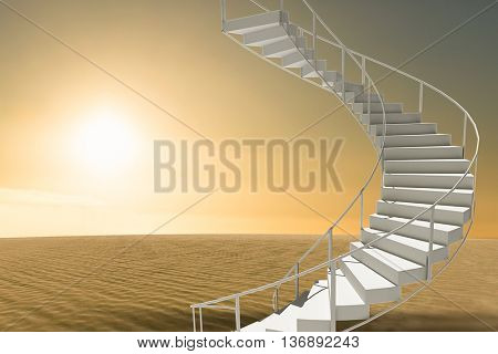Image of isolated stairs against desert scene