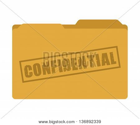confidential folder isolated icon design, vector illustration  graphic