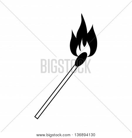 Match sign. Fire symbol. Stock vector illustration