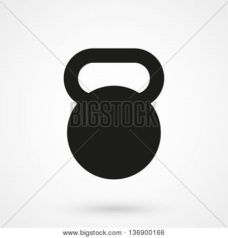 Kettlebell Icon On White Background In Flat Style. Simple Vector Illustration