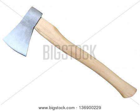 Axe isolated on a white background .