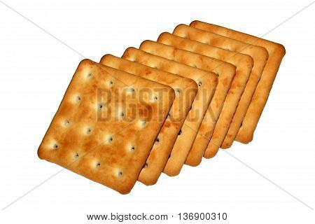 Biscuits - cookies isolated on white background.