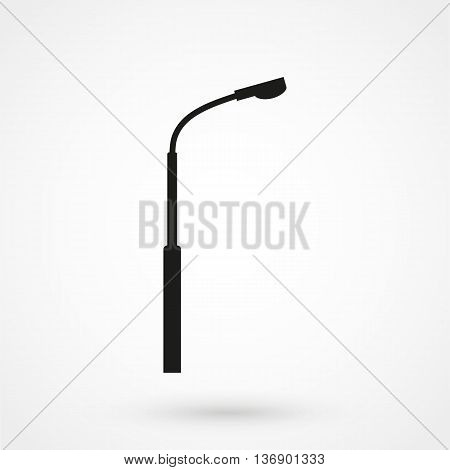 Street Light Icon On White Background In Flat Style. Simple Vector Illustration