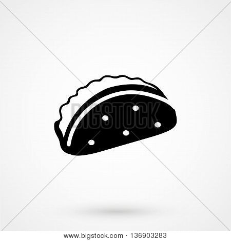 Taco Icon On White Background In Flat Style. Simple Vector Illustration