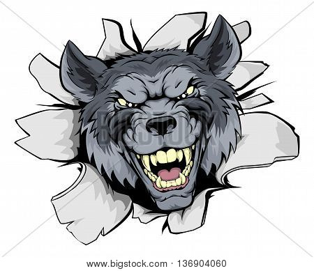 Wolf Mascot Break Out