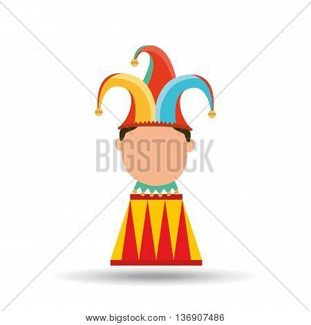 circus juggler isolated icon design, vector illustration  graphic