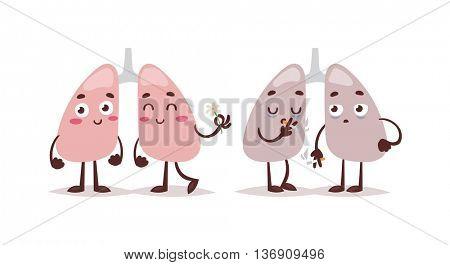 Smoke kill vector illustration.