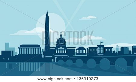 Vector illustration of the city of Washington DC