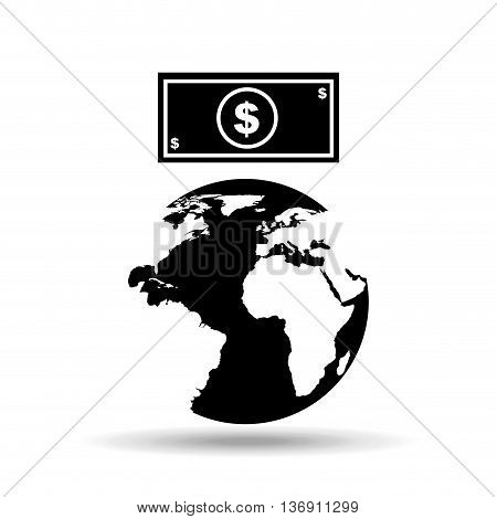 global economy isolated icon design, vector illustration  graphic