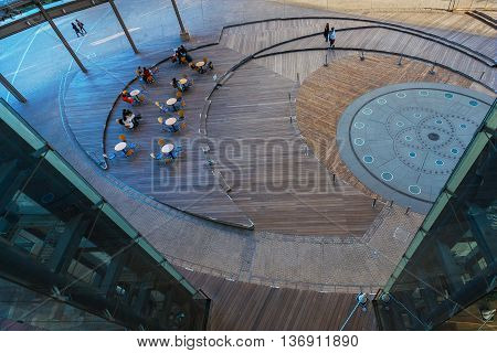 Tokyo, Japan - November 28 2015: Mori Tower Building At Roppongi Hills, Completed In 2003 And Named