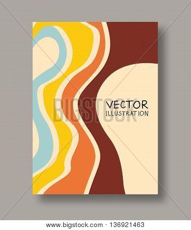 Geometric vintage abstract strip flyers. Vintage brochure templates. Design vintage elements. Vintage Line art. Abstract vintage decoration. Vector illustration.