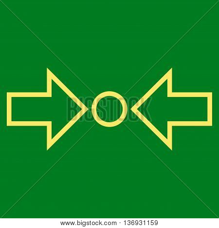 Pressure Horizontal vector icon. Style is stroke icon symbol, yellow color, green background.