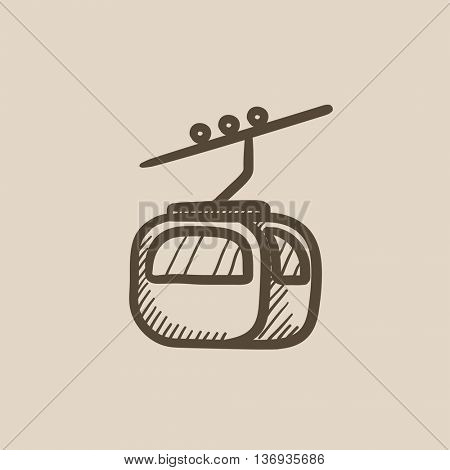 Funicular vector sketch icon isolated on background. Hand drawn Funicular icon. Funicular sketch icon for infographic, website or app.