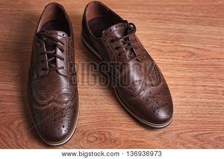 Men's leather fashion shoes .Vintage style .