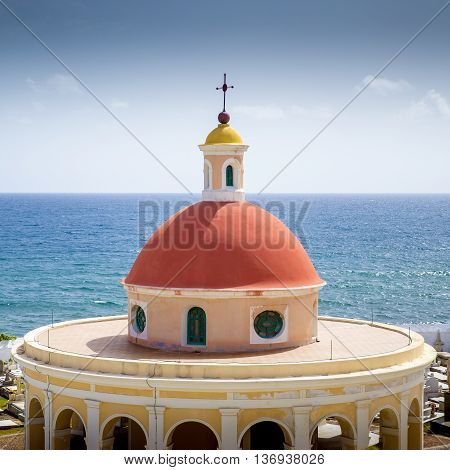 Santa Maria Magdalena de Pazzis cemetery in old San Juan, Puerto Rico