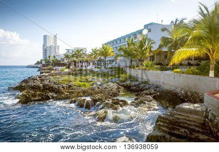 Coast of Cozumel Island Quintana Roo Mexico