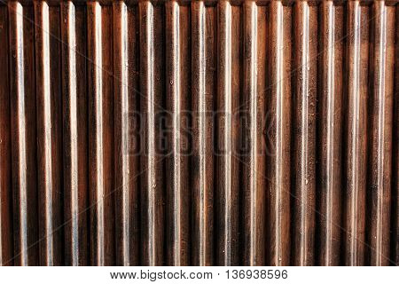 Abstract background from bronze sheet metal texture