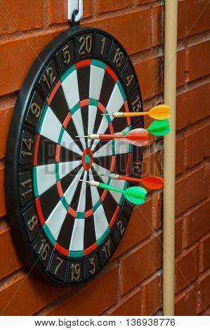 Darts. The game in which players throw darts