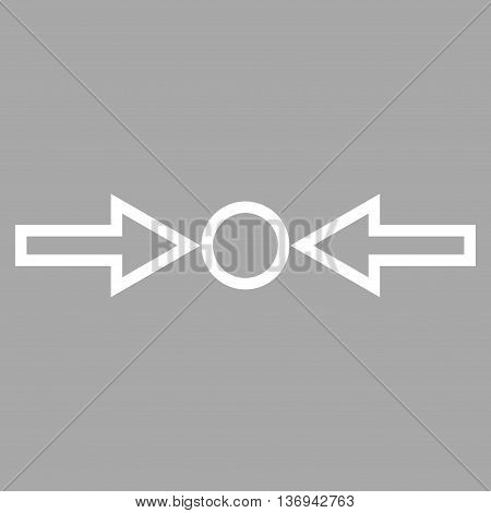 Pressure Horizontal vector icon. Style is thin line icon symbol, white color, silver background.