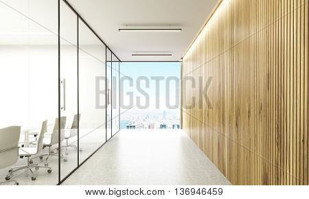 Conference Room And Hallway