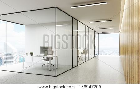Office Interior With Ny View