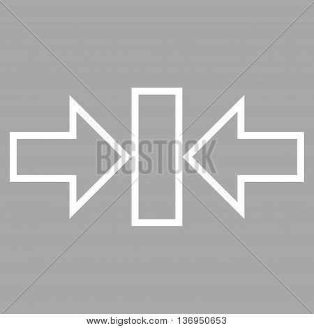 Pressure Horizontal vector icon. Style is stroke icon symbol, white color, silver background.