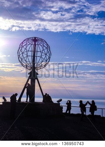 Sign of the Northern point of Europe, North Cape