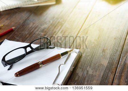 On Work Wood Table