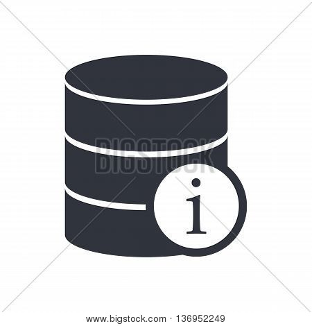 Database Info Icon In Vector Format. Premium Quality Database Info Symbol. Web Graphic Database Info Sign On White Background. poster