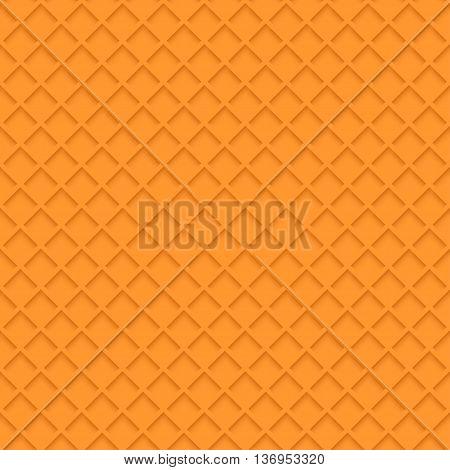 illustration of orange color waffle pattern background