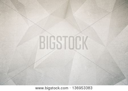 Abstract textured polygon patterned concrete wall. Mock up 3D Rendering