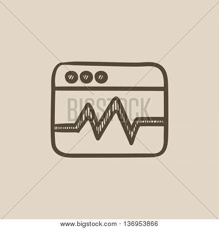 Web analytics information vector sketch icon isolated on background. Hand drawn Web analytics information icon. Web analytics information sketch icon for infographic, website or app.