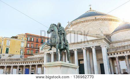 King Ferdinand I° Statue In Naples - Italy
