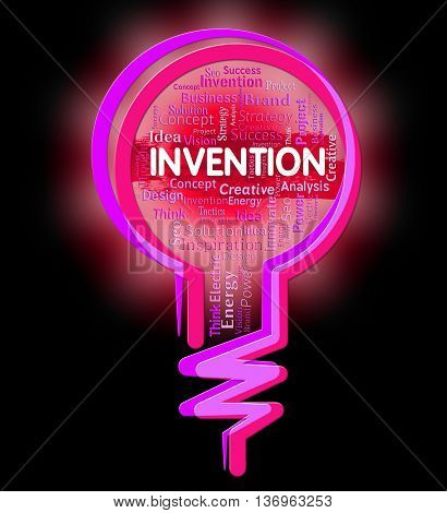 Invention Lightbulb Representing Creation Idea And Innovative poster