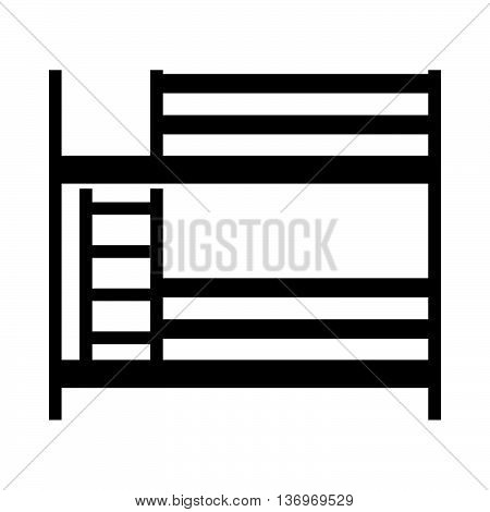 Bunk bed ( shade picture ) on white background
