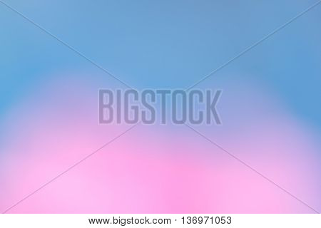 Blurry pink flowers and blue sky backgrounds