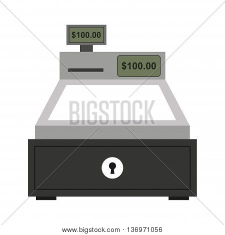 cash register isolated icon design, vector illustration  graphic