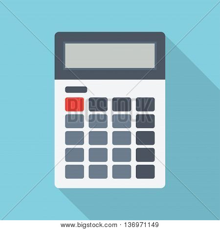 Calculator icon Calculator flat illustration. Vector electronic calculator.