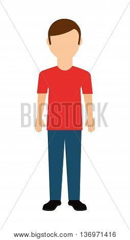 casual young man isolated icon design, vector illustration  graphic