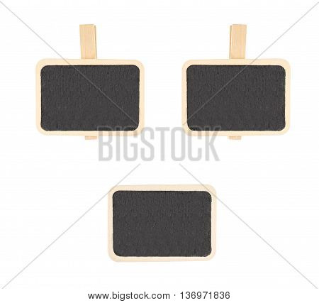 Blackboard Isolated On White Background,arrange Like Human Face,template Mock Up For Adding Your Con